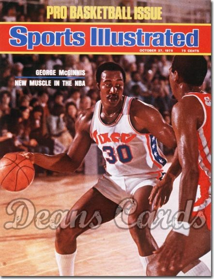 1975 Sports Illustrated - With Label   October 27  -  George Mc Ginnis Philadelphia76ers