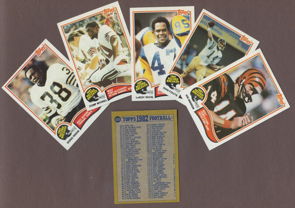 1982 Topps     Football Complete Set (In Binder)
