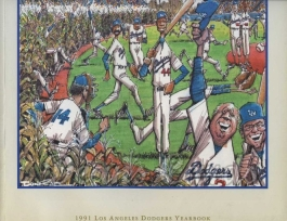 1991 Los Angeles Dodgers Yearbook - Dodgers Field of dreams