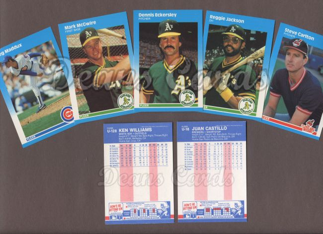 1987 Fleer     Baseball Update Complete Set