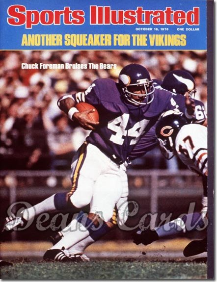 1976 Sports Illustrated - With Label   October 18  -  Chuck Foreman (Minnesota Vikings)