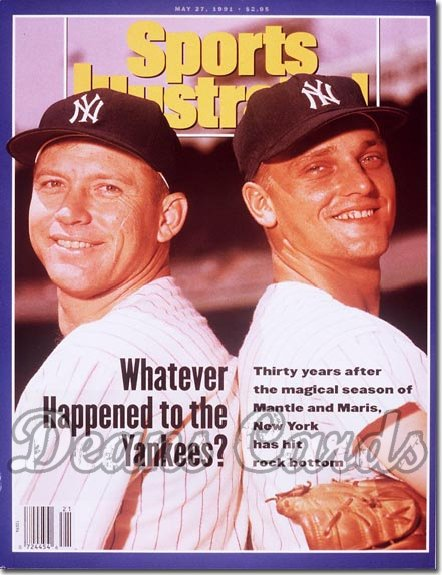 1991 Sports Illustrated With Label May 27 1991 Mickey Mantle