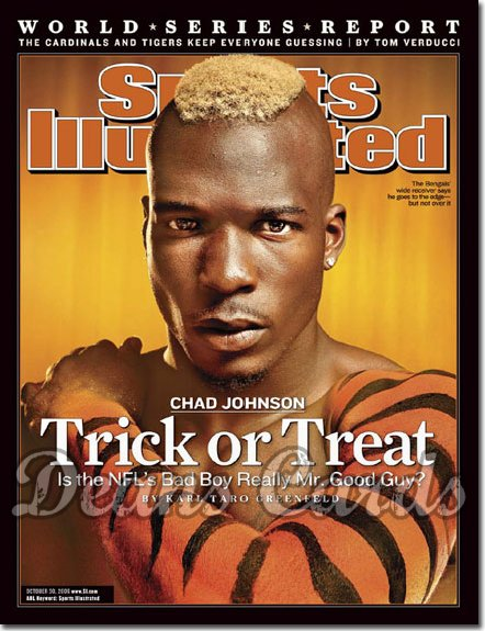 2006 Sports Illustrated - With Label   October 30  -  Chad Johnson Cincinnati Bengals SI
