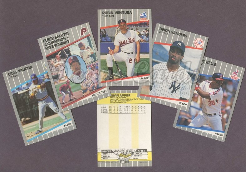 1989 Fleer 1989 Fleer Baseball Update Complete Set