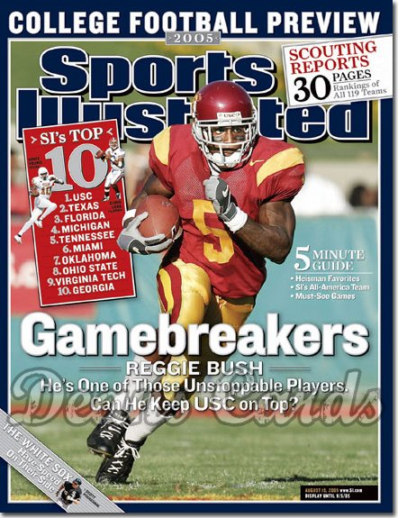 2005 Sports Illustrated - No Label   August 15  -  Reggie Bush USC College Football Preview