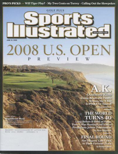 2008 Sports Illustrated - With Label   June 10  -  Golf Plus