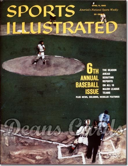 1960 Sports Illustrated - No Label   April 11  -  Baseball Issue