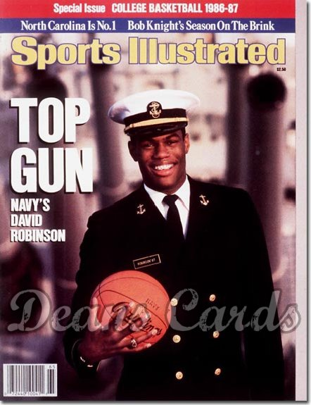 1986 Sports Illustrated - With Label   November 19  -  David Robinson (Navy Midshipmen)