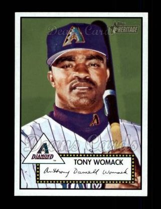 2001 Topps Heritage #102  Tony Womack