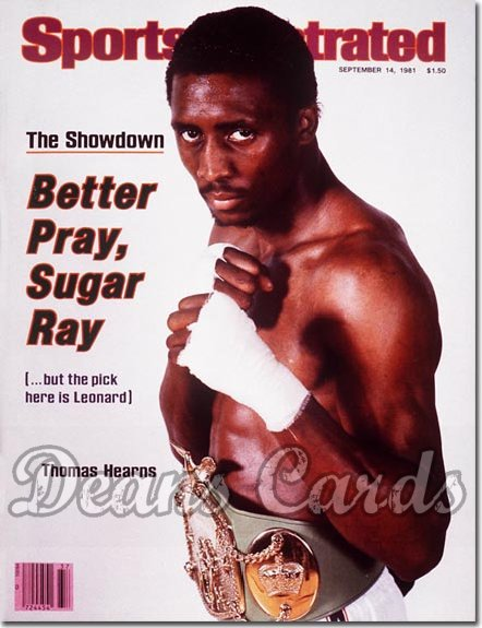 1981 Sports Illustrated - With Label   September 14  -  Thomas Hearns