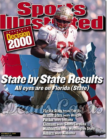 2000 Sports Illustrated - With Label   November 27  -  Chad Johnson (Oregon State Beavers) (Regional Issue)