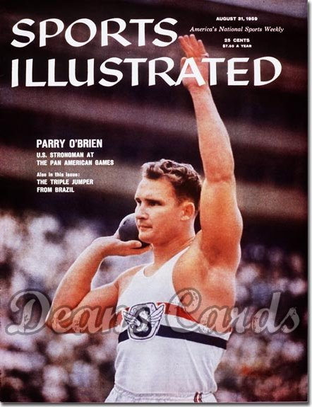1959 Sports Illustrated - With Label   August 31  -  Parry O'Brien (Shot Put)