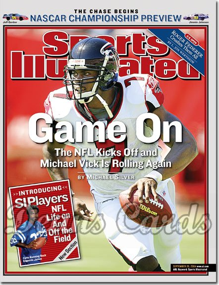 2004 Sports Illustrated - With Label   September 20  -  Michael Vick Falcons NASCAR Championship Preview
