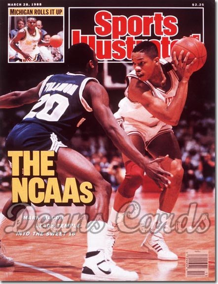 1988 Sports Illustrated - With Label   March 28  -  Mark Macon (Temple Owls)