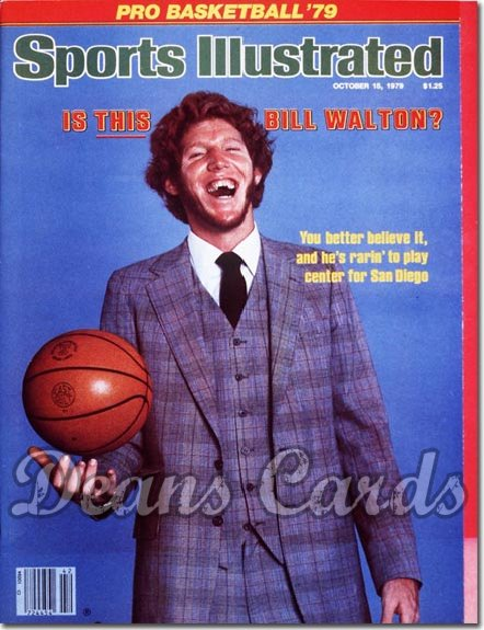 1979 Sports Illustrated - With Label   October 15  -  Bill Walton (San Diego Clippers)