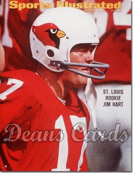 1967 Sports Illustrated - With Label   November 27  -  Jim Hart (St. Louis Cardinals)
