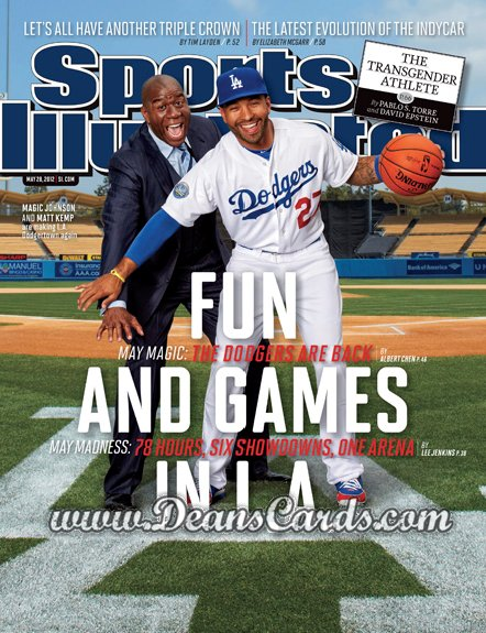 2012 Sports Illustrated - With Label   May 28  -  Matt Kemp / Magic Johnson / Fun and Games In L.A.