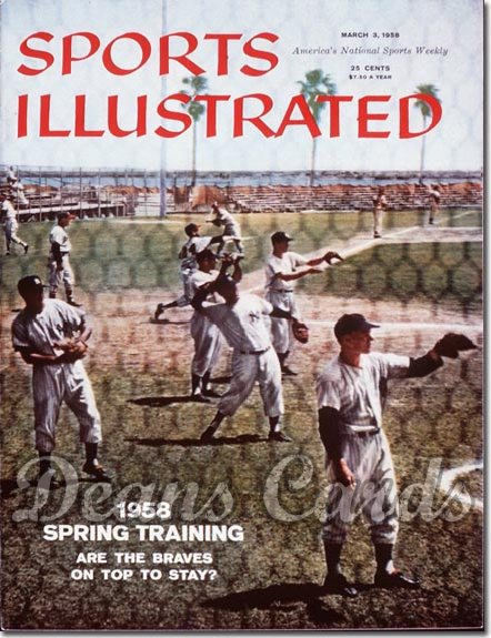 1958 Sports Illustrated - With Label   March 3  -  Yogi Berra Casey Stengel Elston Howard