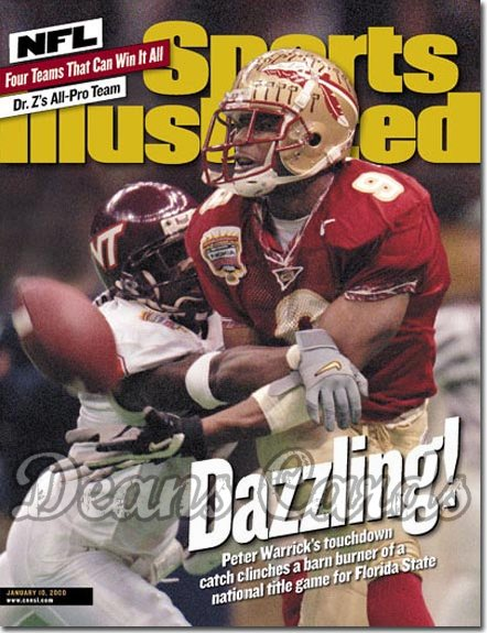 2000 Sports Illustrated - With Label   January 10  -  Peter Warrick Florida State Seminoles
