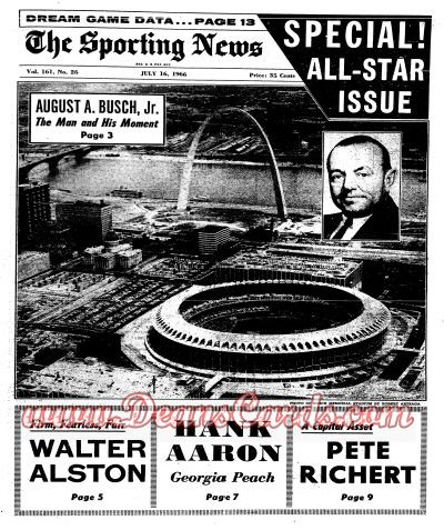 1966 The Sporting News   July 16  - All-Star Game Issue