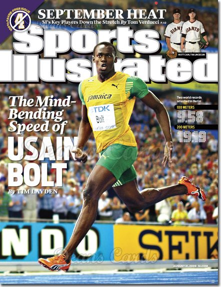 2009 Sports Illustrated - With Label   August 31  -  Usain Bolt