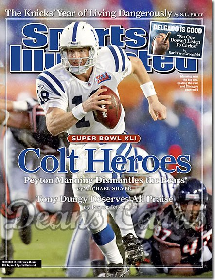 2007 Sports Illustrated - With Label   February 12  -  Peyton Manning