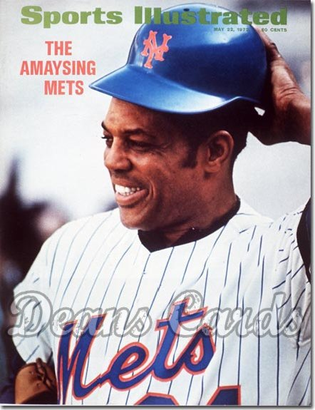 1972 Sports Illustrated - With Label   May 22  -  Willie Mays New York Mets