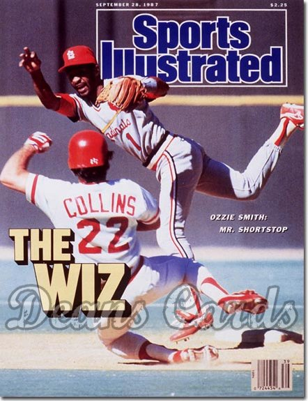 1987 Sports Illustrated - With Label   September 28  -  Ozzie Smith (St. Louis Cardinals)