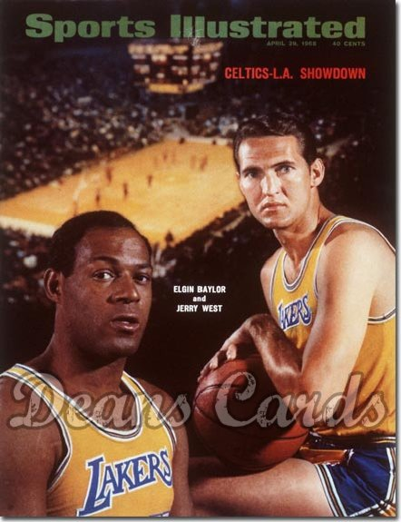 1968 Sports Illustrated - With Label   April 29  -  Jerry West & Elgin Baylor (Los Angeles Lakers)