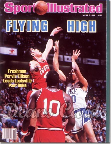1986 Sports Illustrated - With Label   April 7  -  Pervis Ellison (Louisville Cardinals)