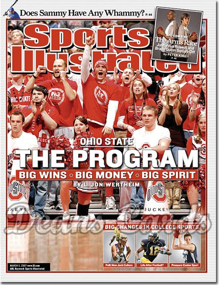 2007 Sports Illustrated - With Label   March 5  -  Ohio State Buckeyes Basketball SI