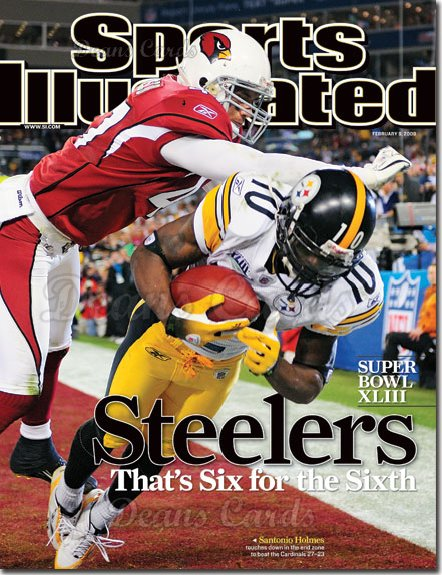 2009 Sports Illustrated - With Label   February 9  -  Santonio Holmes of the Steelers (Super Bowl XLIII)