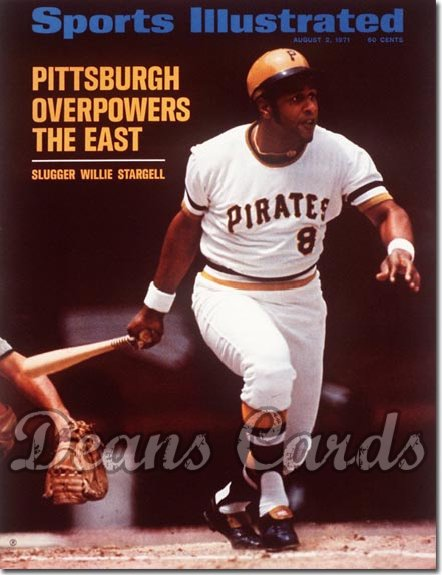 1971 Sports Illustrated - With Label   August 2  -  Willie Stargell (Pittsburgh Pirates)