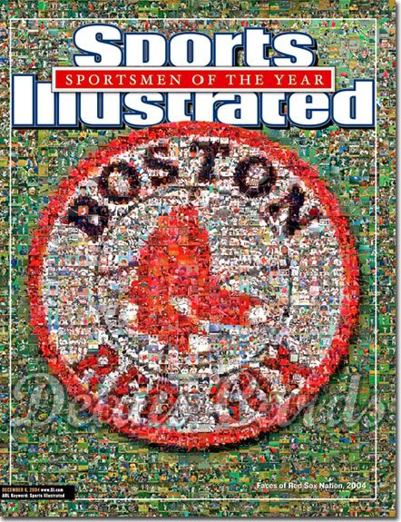 2004 Sports Illustrated - With Label   December 6  -  Boston Red Sox Photo Montage SOY Sportsmen Of The Year
