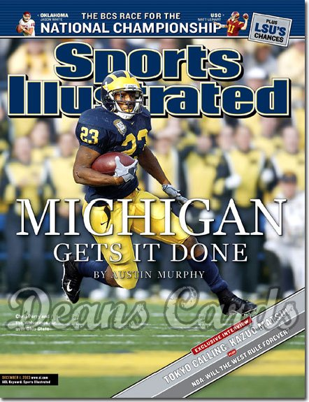 2003 Sports Illustrated - With Label   December 1  -  Chris Perry (Michigan Wolverines)