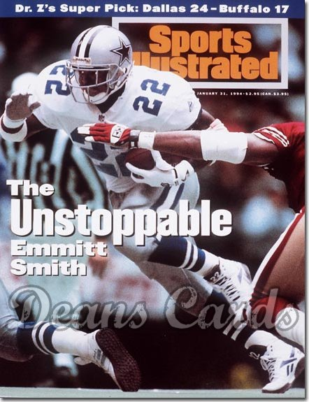 1994 Sports Illustrated - With Label   January 31  -  Emmitt Smith (Dallas Cowboys)