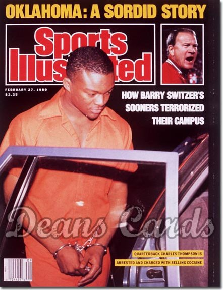 1989 Sports Illustrated - No Label   February 27  -  Barry Switzer & Charles Thompson (Oklahoma Sooners)