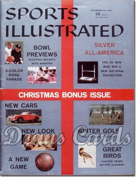 1956 Sports Illustrated - With Label   December 24  -  Christmas Issue Bowl Preview