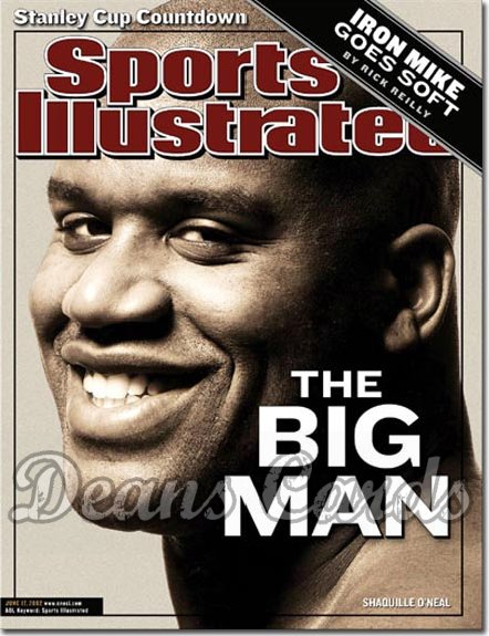 2002 Sports Illustrated - With Label   June 17  -  Shaquille O'Neal LA Lakers
