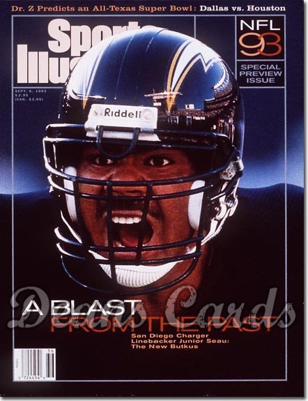 1993 Sports Illustrated - No Label   September 6  -  Junior Seau (San Diego Chargers) Pro Football Issue