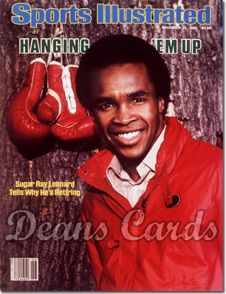 1982 Sports Illustrated - With Label   November 15  -  Sugar Ray Leonard