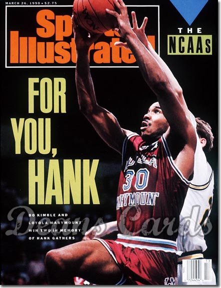 1990 Sports Illustrated - No Label   March 26  -  Bo Kimble (Loyola Marymount)