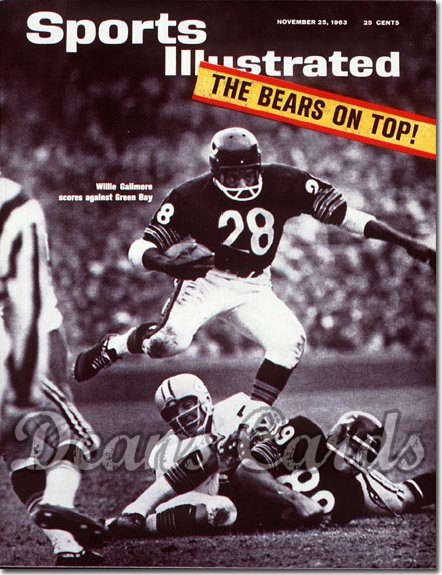 1963 Sports Illustrated - With Label   November 25  -  Willie Galimore & Mike Ditka Chicago