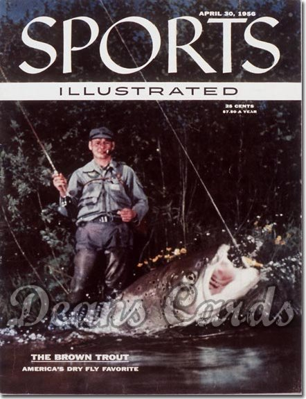 1956 Sports Illustrated - With Label   April 30  -  Trout Fishing