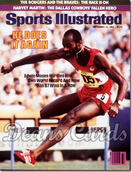 1983 Sports Illustrated - No Label   September 12  -  Edwin Moses