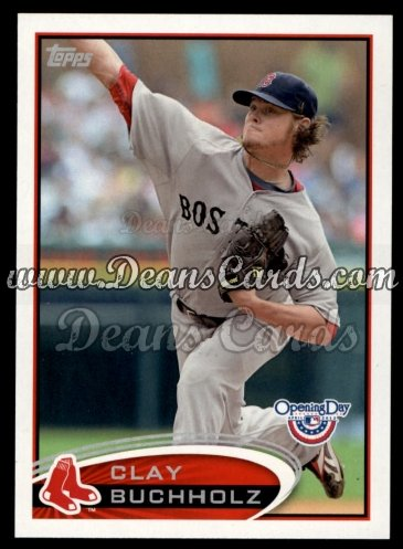 2012 Topps Opening Day #218  Clay Buchholz