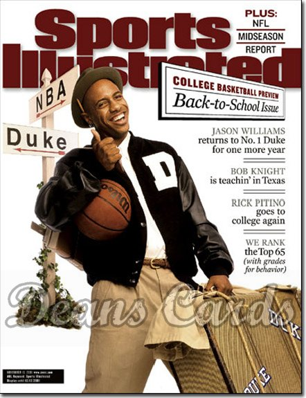 2001 Sports Illustrated - With Label   November 19  -  Jason Williams Duke Blue Devils Basketball Preview