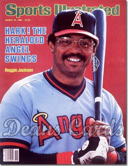 1982 Sports Illustrated - With Label   March 15  -  Reggie Jackson (California Angels)