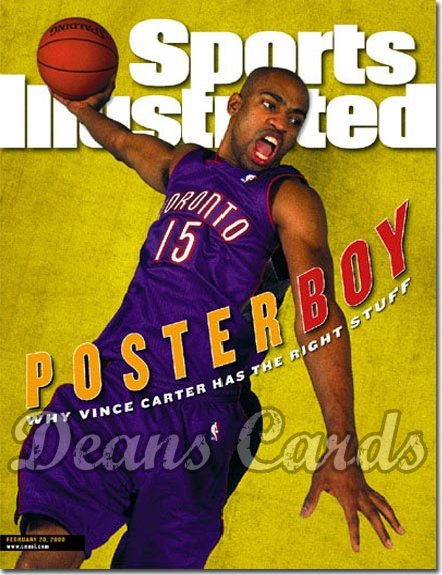 2000 Sports Illustrated - With Label   February 28  -  Vince Carter Toronto Raptors