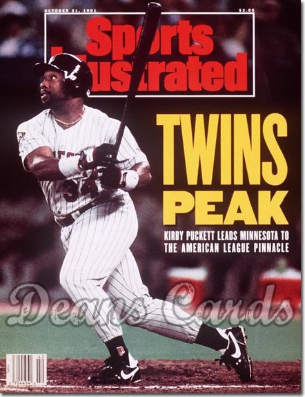 1991 Sports Illustrated - With Label   October 21  -  Kirby Puckett (Minnesota Twins)